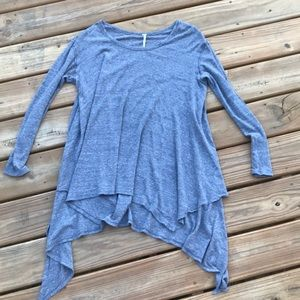 Free People - Grey Slouchy Lightweight Sweater.